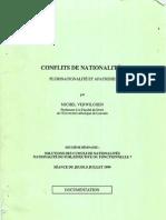 Conflits de nationalités par Michel Verwilghen (1999)