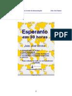 JJSantos Esperanto Em 30 Horas (Parte Do Livro PT)