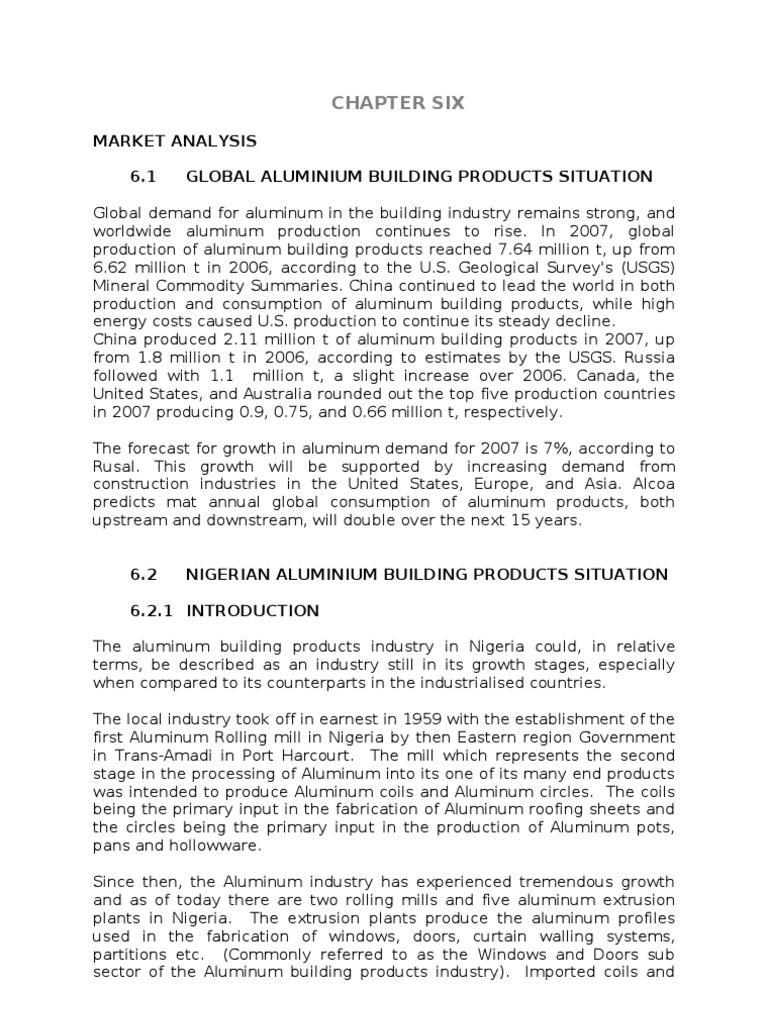 Aluminium Industry Survey Nigeria | Nigeria | Aluminium