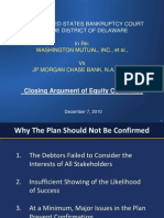Washington Mutual (WMI) - Transcript of Oral Closing Arguments 8/24