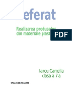 Realizarea Prod Din Mat Plastice