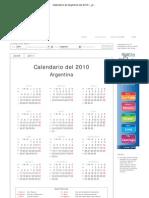 Calendario de Argentina del 2010 _ ¿Cuándo en el Mundo_