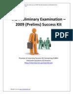 IAS Prelims 2009 Success Kit