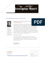 Innovation Watch Newsletter 10.18 - August 27, 2011