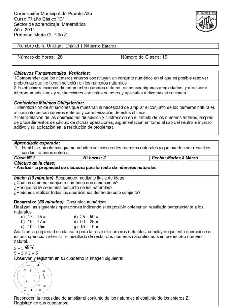 Bonito Hojas De Trabajo En Números Enteros De La Clase 7 Molde ...