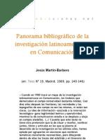 Panorama bibliográfico de la investigación latinoamericana en comunicación
