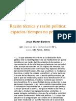 Razón técnica y razón política. Espacios-tiempos no pensados