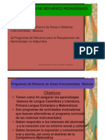 Presentacion Programas de Refuerzos