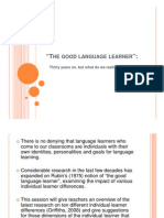 A Good Language Student