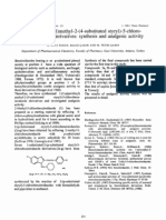 1-(1-Piperidinyl)Methyl-2-(4-Substituted Styryl)-5-Chlorobenzimidazole Derivatives - Synthesis and Analgesic Activity - J Pharm Pharmacol Sep 1998, 50(S9), 231