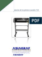 Manual de instalación de los plotters modelo 720