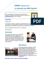 MBC Newsletter 01-08-2011