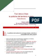 20110121 - UniBO - Politiche Del Territorio in Italia