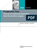 Preoperative NICE Guidelines