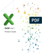 Excel for Mac 2011 Product Guide