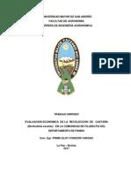 EVALUACION ECONOMICA DE LA RECOLECCION DE CASTAÑA