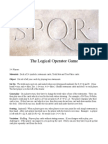 SPQR-The Logical Operator Game