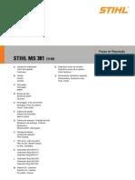 Manual Motosierra Ms381