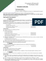 Cas d'application-Examen ecrit Audit Financier contrôle Interne