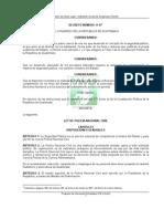 Ley Organica de La PNC