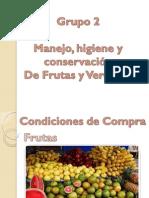 manejo, higiene y conservacion frutas y verduras.