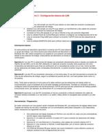 Práctica de laboratorio 3 - Configuracion LAN Básica _con UTP armados en Practica 2_