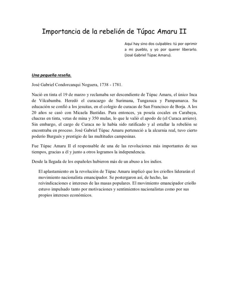 La rebelion de tupac amaru ii pdf reader