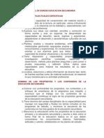 Perfil de Egreso Educacion Sec Und Aria