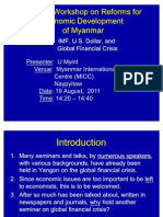U Myint- Global Financial Crisis