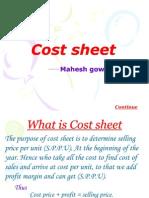 Cost Sheet123