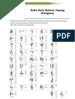 Suku Kata Bahasa Jepang (Hiragana)
