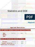 Statistics and DOE Latest
