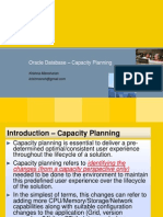 Oracle Database - Capacity Planning