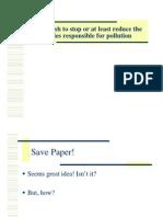 Saving Paper