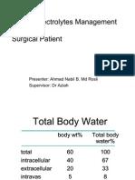 Fluid & Electrolytes Management (Nabil)