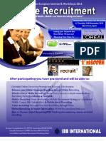 Online Recruitment Europe 2011 Agenda
