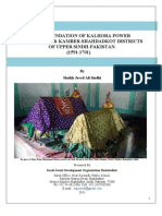 The Foundation of Kalhora Power in Larkana & Kamber-Shahdadkot Districts of Upper Sindh Pakistan