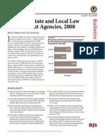 State-Local Law Enforcement Census - DOJ 2008