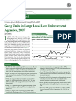 Law Enforcement Gang Unit Census - DOJ 2007
