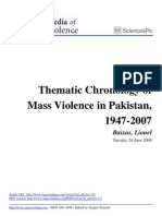 Thematic Chronology of Mass Violence in Pakistan 1947 2007