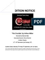 Crucible Audition Notice