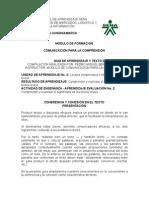 MODULO de FORMACION 2 Cohesión y Coherencia