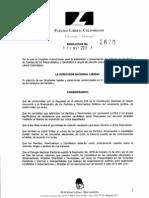 Resolucion2670 Partido Liberal 2011