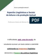 Aspectos linguísticos e sociais