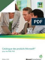 Catalogue 2010 Des Produits Microsoft