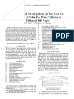 Experimental Investigations on Top Loss Coefficients