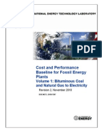 Cost and Performance Baseline for Fossil Energy Plants Volume 1_ Bituminous Coal and Natural Gas to Electricity