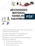 Mechanized Material Handling Equipment