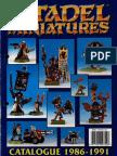 Citadel Miniatures Catalogue 1986-91