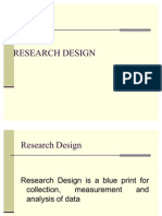Research Design and Types of Research